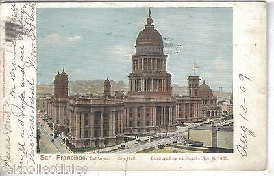 City Hall-San Francisco,California  1909 - Cakcollectibles