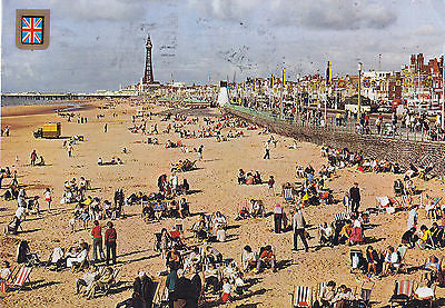 Greetings From Black Pool England Postcard - Cakcollectibles - 1