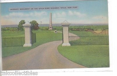 Oriskany Monument on The Utica-Rome Highway-Utica,New York - Cakcollectibles