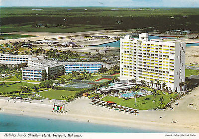 Holiday Inn And Sheraton Hotel, Freeport, bahamas Postcard - Cakcollectibles - 1