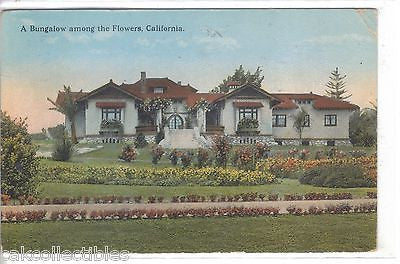 A Bungalow among the Flowers-California 1925 - Cakcollectibles