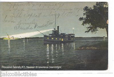 Steamer St. Lawrence Searchlight-Thousand Islands,New York 1907 - Cakcollectibles