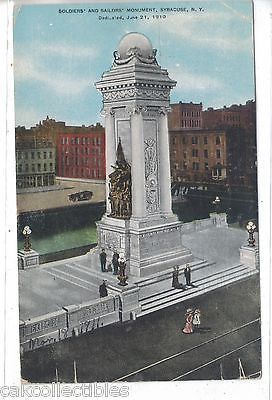 Soldiers' and Sailors' Monument-Syracuse,New York 1911 - Cakcollectibles