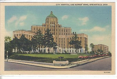 City Hospital & Nurses' Home-Springfield,Ohio - Cakcollectibles