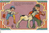 4th of July Post Card-Boys with Dog and Firecrackers - Cakcollectibles - 1