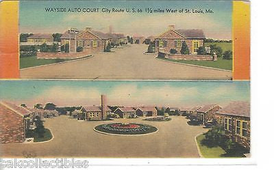 Wayside Auto Court,West of St. Louis,Missouri (Route 66) - Cakcollectibles - 1