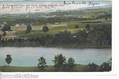 Connecticut River and South Hadley from Mt. Tom 1907 - Cakcollectibles