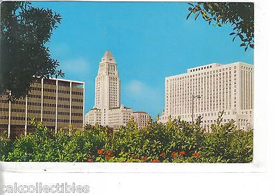 Civic Center,showing City Hall and Post Office-Los Angeles,California - Cakcollectibles