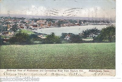 Birds-Eye View of Middletown and Connecitcut River from Asylum Hill-Conn. 1906 - Cakcollectibles