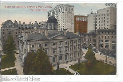 Business Section,showing Post Office-Portland,Oregon - Cakcollectibles