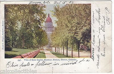Vista of State Capital,Sherman Avenue-Denver,Colorado 1906 - Cakcollectibles