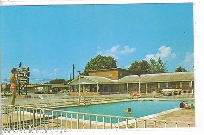 Swimming Pool,Bryant Town Motel-Newport,Tennessee - Cakcollectibles - 1