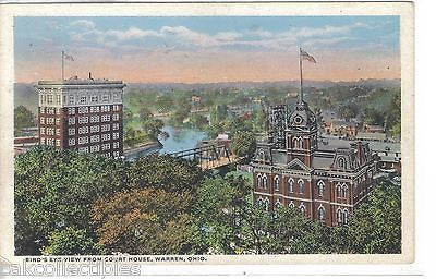 Bird's Eye View from Court House-Warren,Ohio - Cakcollectibles