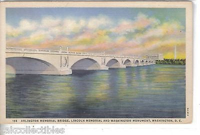 Arlington Memorial Bridge,Lincoln Memorial & Washington Monument-Washington,D.C. - Cakcollectibles