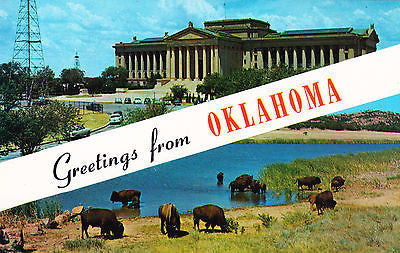 Greetings From The State Capital Of Oklahoma Postcard - Cakcollectibles