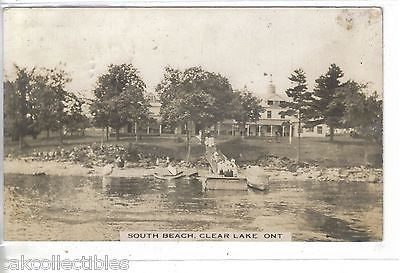 RPPC-South Beach-Clear Lake,Ontario,Canada 1913 - Cakcollectibles - 1