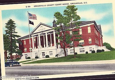 Greenville County Court House-Greenville,South Carolina - Cakcollectibles