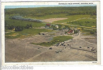 Aerial View-Reynolds Field Airport-Jackson,Michigan - Cakcollectibles - 1