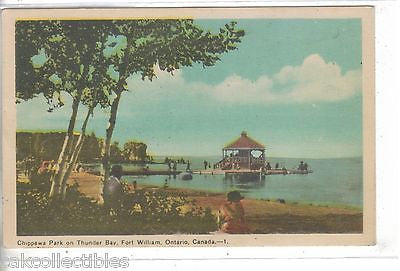 Chippewa Park on Thunder Bay-Fort William,Ontario,Canada 1949 - Cakcollectibles