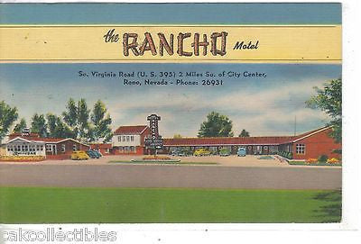 The Rancho Motel-Reno,Nevada - Cakcollectibles - 1