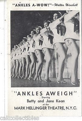 "Betty and Jean Kean in ""Ankles Aweigh""-Mark Hellinger Theatre-N.Y.C. - Cakcollectibles"