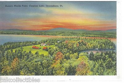 Sunset,Blacks Point,Caspian Lake-Greensboro,Vermont - Cakcollectibles
