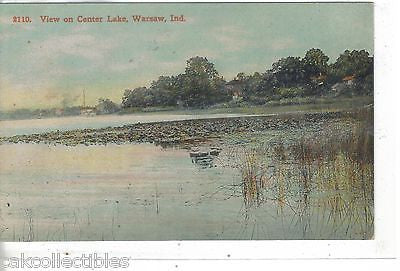 View on Center Lake-Warsaw,Indiana - Cakcollectibles