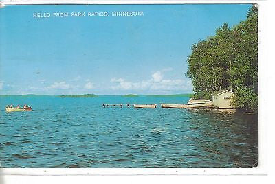 Hello from Park Rapids,Minnesota (Lake Scene) 1966 - Cakcollectibles