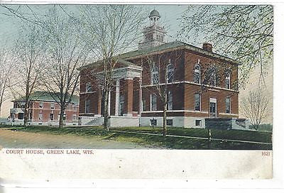 Court House-Green Lake,Wisconsin UDB - Cakcollectibles