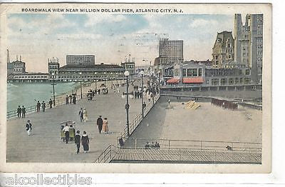 Boardwalk View near Million Dollar Pier-Atlantic City,New Jersey 1920 - Cakcollectibles