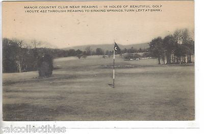 Golf Course,Manor Country Club near Reading,Pennsylvania - Cakcollectibles - 1