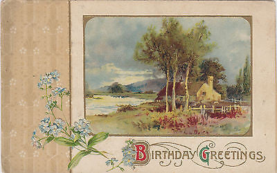 Beautiful Scenic Birthday Wishes John Winsch Postcard - Cakcollectibles