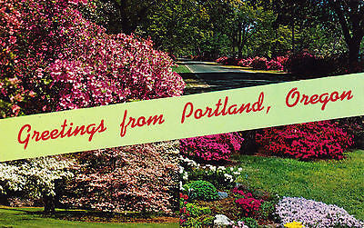 Greetings From Portland Oregon Postcard - Cakcollectibles
