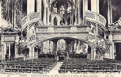 Eglise Saint Etienne Du Mont Paris France Postcard - Cakcollectibles