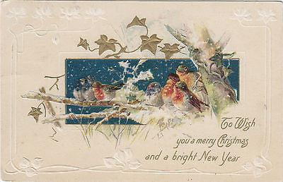 To Wish You A Merry Christmas And A Bright New Year John Winsch Postcard - Cakcollectibles