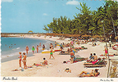 Paradise Beach At Nassau, Bahamas Postcard - Cakcollectibles - 1