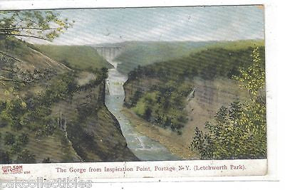 The Gorge from Inspiration Point-Portage,New York 1909 - Cakcollectibles