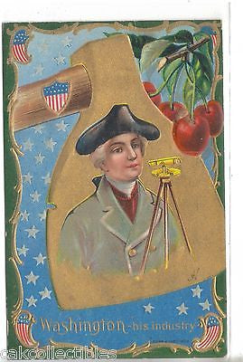 Early Post Card-Washington-His Industry - Cakcollectibles - 1