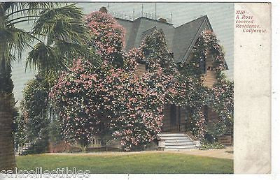 A Rose Covered Residence-California UDB - Cakcollectibles