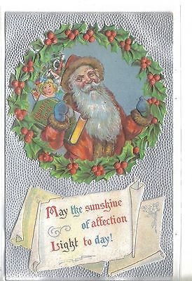 Santa with Address Book Post Card - Cakcollectibles - 1