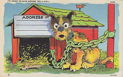 """I'm Going To Hang Around For A Spell"" Linen Comic Postcard - Cakcollectibles - 1"