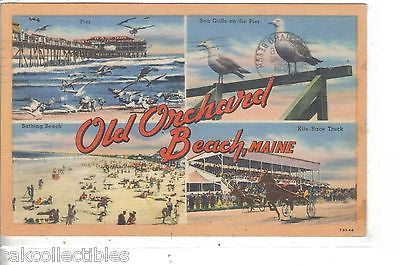 Multi View Post Card-Old Orchard Beach,Maine 1951 - Cakcollectibles