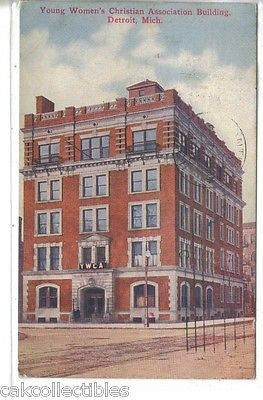Y.W.C.A. Building-Detroit,Michigan 1910 - Cakcollectibles - 1