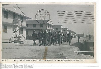 Infantry Drill-Quartermaster Replacement Center-Camp Lee,Virginia 1942 - Cakcollectibles - 1