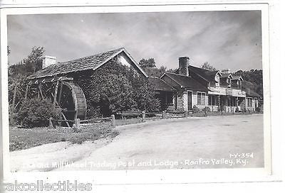 RPPC-The Old Mill Wheel Trading Post and Lodge-Renfro Valley,Kentucky - Cakcollectibles