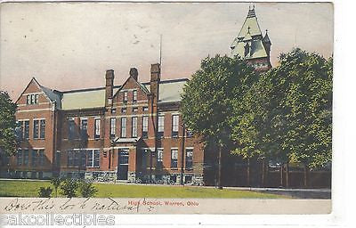 High School-Warren,Ohio 1908 - Cakcollectibles