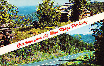 Greetings From The Blue Ridge Parkway Postcard - Cakcollectibles