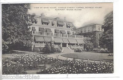 View of Main House,Corpus Christi Carmel Retreat House-Newport,Rhode Island - Cakcollectibles