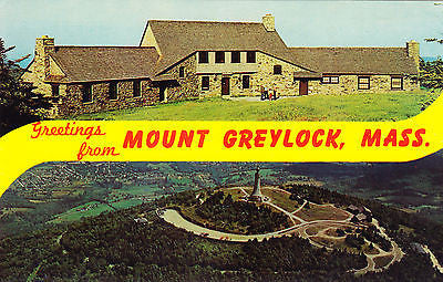 Greetings From Mount Greylock Massachusetts Postcard - Cakcollectibles