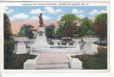 Statue of Dr. Havilah Beardsley,Founder of Elkhart,Indiana - Cakcollectibles